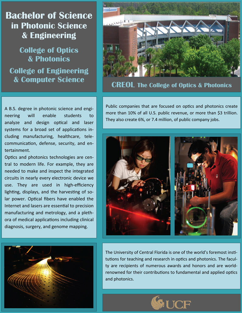 BS program in Photonic Science and Engineering